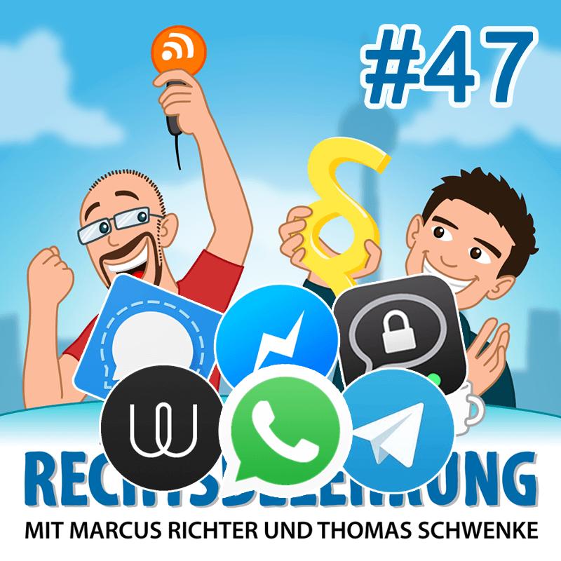 WhatsApp, Messenger und der Datenschutz – Rechtsbelehrung Folge 47 (Jura-Podcast)