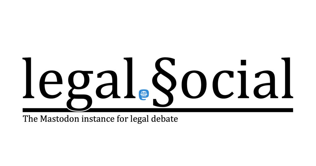 Mastodon-Instanz legal.social besuchen.